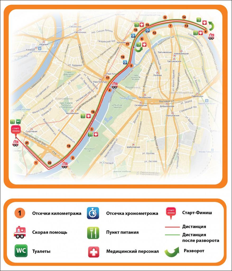 Карта Осеннего Грома 2013 на 21 км
